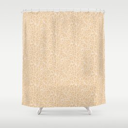 Retro flowers in beige Shower Curtain
