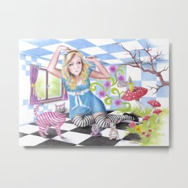 Alice | ENDOvisible Metal Print
