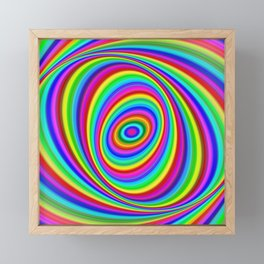 Rainbow Hypnosis Framed Mini Art Print