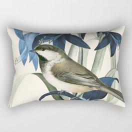 Little Bird and Flowers II Rectangular Pillow