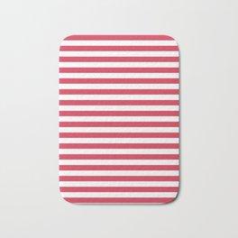 Red white striped Bath Mat