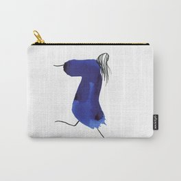 How to be a girl #8 -minimalist girl in bright blue ink Carry-All Pouch