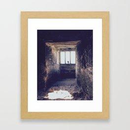 A crow in Blarney Castle Framed Art Print