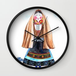 MARIA FROM SERRA DA ESTRELA-PORTUGAL Wall Clock
