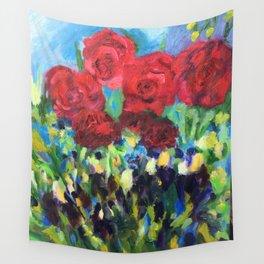 Harmony of Roses Wall Tapestry