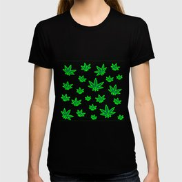 Cannabis Leaves Background T-shirt