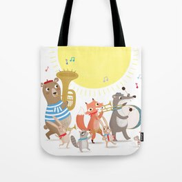 Children's Nursery Music Animal Band Tote Bag