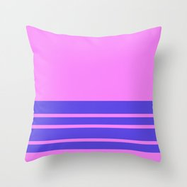 Violet Slate Stripes Blue Wall Throw Pillow