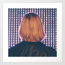 Illuminated Blondie Art Print