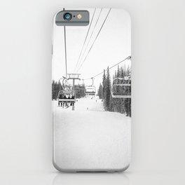 """Ski Lift"" Deep Snow Season Pass Dreams Snowy Winter Mountains Landscape Photography iPhone Case"