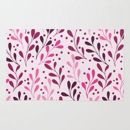 pink,magenta and lili abstract seaweed plants seamless pattern Rug