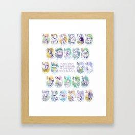Alphabet Animals P Framed Art Print