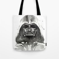 darth Tote Bags featuring Darth Vader by Olechka