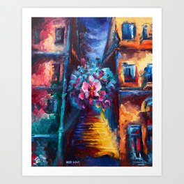 """""""Orchid"""" Painting Art Print"""