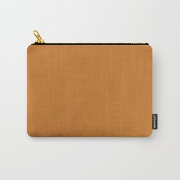 Ocher Orange Solid Color Carry-All Pouch