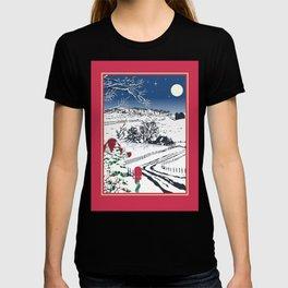 Silent Winter Night Silhouette T-shirt