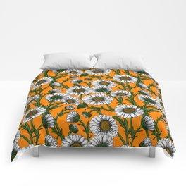 Daisies on orange Comforters