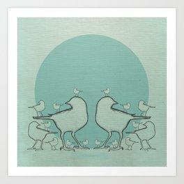 A Bird On The Head Art Print