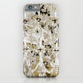 Crystal Pearls Chandelier Paris iPhone Case