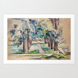 1893 - Paul Cezanne - Avenue of Chestnut Trees at the Jas de Bouffan Art Print