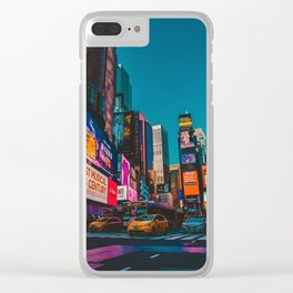 City Lights NYC (Color) Clear iPhone Case