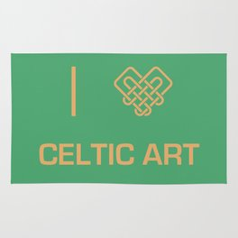 I heart Celtic Art Rug