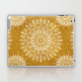 Vintage Mandala on Gold Laptop & iPad Skin
