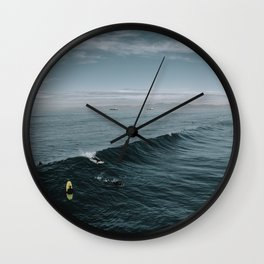 Summer Surf Session Wall Clock