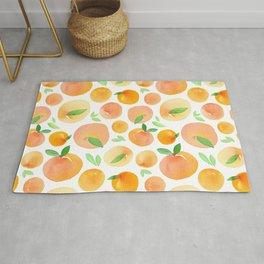 Watercolor Peach Pattern Rug