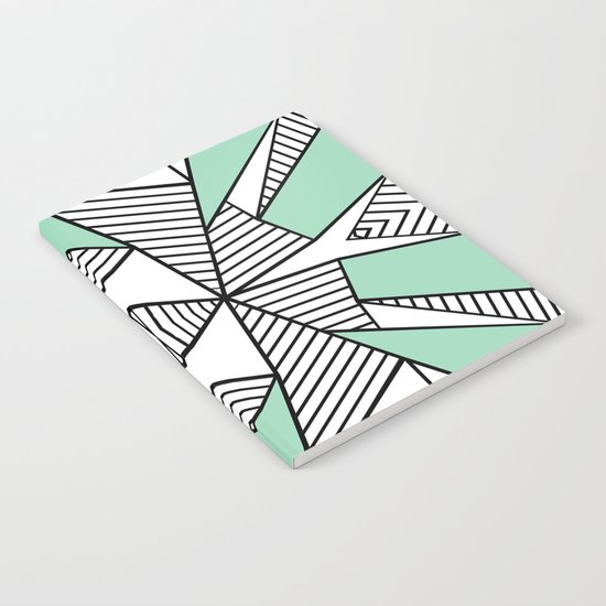 Triangle Tribal Mint Notebook