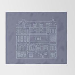 Very Royal - Blueprint Throw Blanket