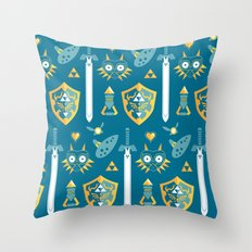 A Hero's Arsenal Throw Pillow