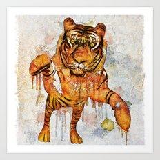 tiger splash ! Art Print