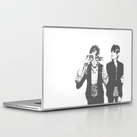tegan and sara Laptop & iPad Skins featuring Tegan & Tegan & Sara & Sara - Gray by c.beanan
