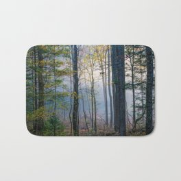 Mystic Forest - Early Morning Glow in Smoky Mountains Bath Mat
