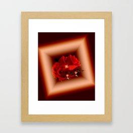 Diamond Roses Framed Art Print