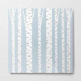 Minimalist Birch Trees by Amanda Laurel Atkins Metal Print