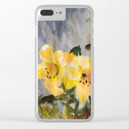 painted lilies Clear iPhone Case