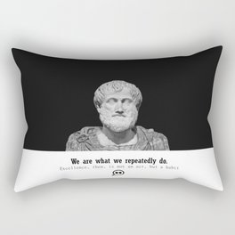 Quote Aristotles We are what we repeatedly do Rectangular Pillow