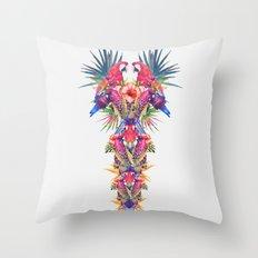 Parrot Kingdom Throw Pillow