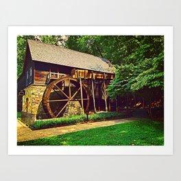 Gristmill - Charlottesville, Virginia Art Print