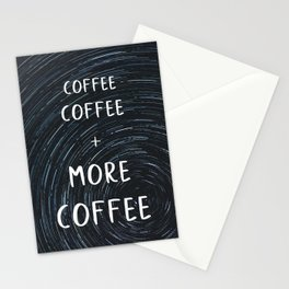 Coffee More Coffee Stationery Cards