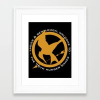 mockingjay Framed Art Prints featuring Mockingjay by For Fanatics