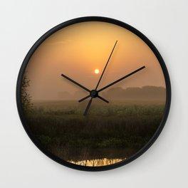 River Idle Dawn Wall Clock
