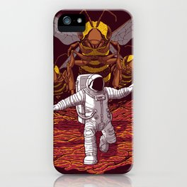 Killer bees on Mars. iPhone Case