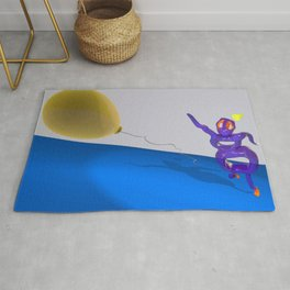 Gary Chases His Cat Rug
