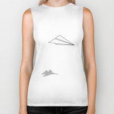 Paper Airplane Dreams Biker Tank