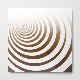 Brown Earth Concentric Circles Metal Print