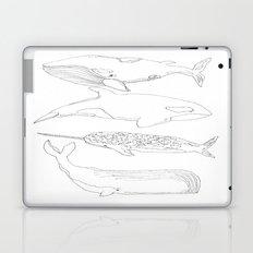 whale, i love you Laptop & iPad Skin