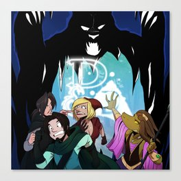 """Bear With Us..."" - Dungeons & Doritos Canvas Print"